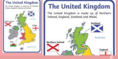 دول بريطانيا الرئيسية والمناطق الجغرافية للمملكة المتحدة